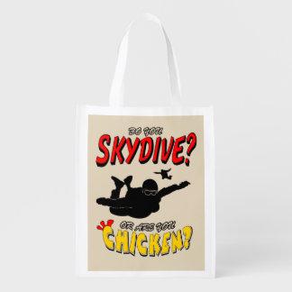 Sacola Ecológica Skydive ou galinha? (preto)