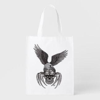 Sacola Ecológica Spiderskull com Eagle no Tatuagem-estilo