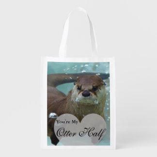 Sacola Ecológica Sua minha natação da lontra de rio de Brown da