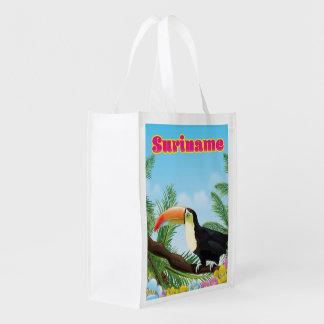 Sacola Ecológica Suriname sul - poster de viagens americano do