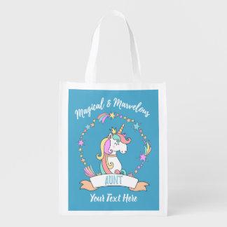 Sacola Ecológica Tia maravilhosa mágica - princesa do unicórnio