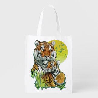 Sacola Ecológica Tigre com a bolsa de compra reusável de Cub