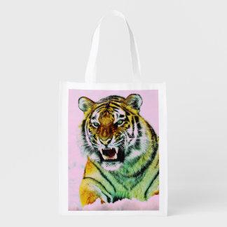Sacola Ecológica Tigre no rosa