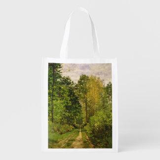 Sacola Ecológica Trajeto arborizado de Claude Monet |