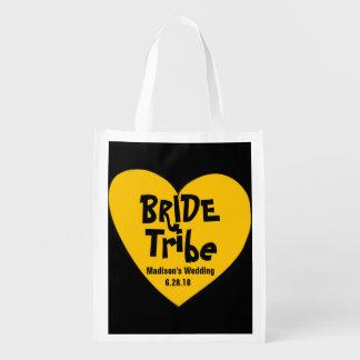 Sacola Ecológica Tribo amarelo Funky & legal da noiva do coração