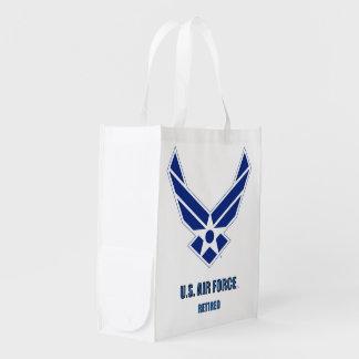 Sacola Ecológica U.S. A bolsa de compra aposentada força aérea