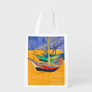 Sacola Ecológica Van Gogh que pinta barcos famosos