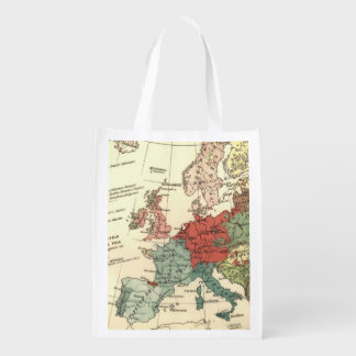 Sacola Ecológica Viagens vintage do mapa de Europa