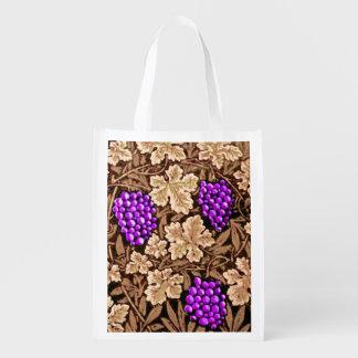 Sacola Ecológica Vinha, Brown e roxo de William Morris
