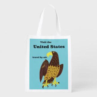 Sacola Ecológica Visite o poster de viagens de Estados Unidos