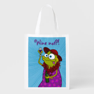 Sacola Ecológica Winnie ama o vinho, saco reusável