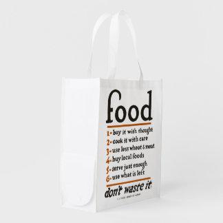 """Sacola Ecológica WWI da """"desperdício Comida-Don't ele"""" a bolsa de"""