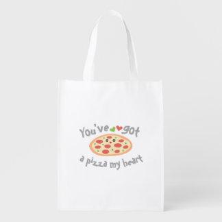 Sacola Ecológica You've obteve a uma pizza meu coração humor