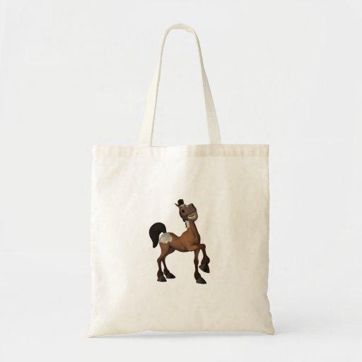 Sacola engraçada do cavalo dos desenhos animados bolsa para compra