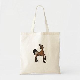 Sacola engraçada do cavalo dos desenhos animados sacola tote budget