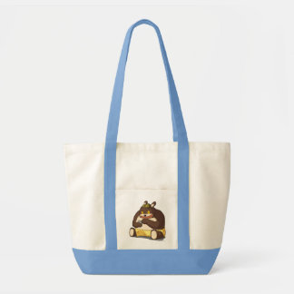 Sacola engraçada do impulso do personagem de desen bolsas para compras