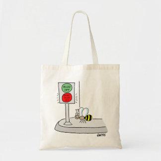 Sacola engraçada dos desenhos animados da abelha sacola tote budget