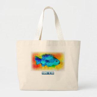 """Sacola enorme de """"felicidade dos peixes Bama """" Bolsas"""