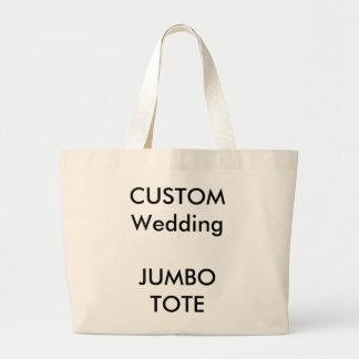 Sacola enorme feita sob encomenda do casamento sacola tote jumbo
