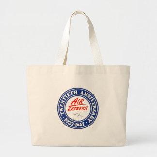 Sacola expressa do jumbo do aniversário do ar 20a bolsa para compras