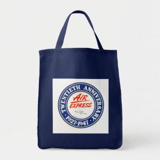 Sacola expressa do mantimento do aniversário do ar sacola tote de mercado