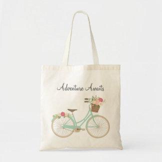 Sacola floral da bicicleta bolsa tote