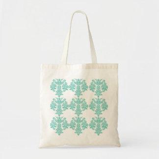 Sacola floral do nouveau da arte de turquesa do bolsas para compras