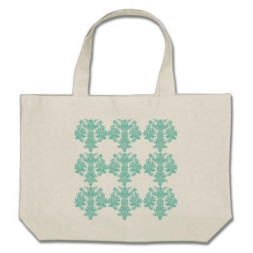 Sacola floral do nouveau da arte de turquesa do da bolsas para compras