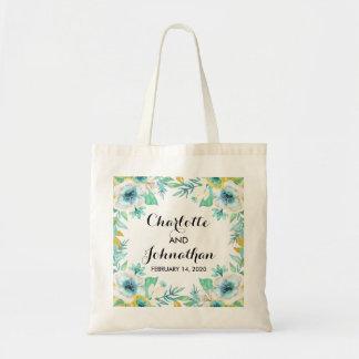 Sacola floral do orçamento do casamento do vintage bolsa tote