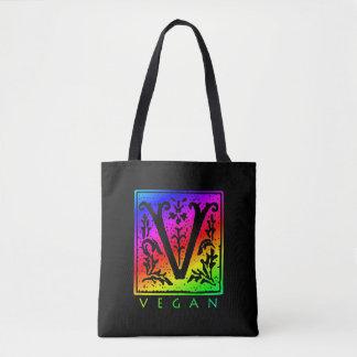 Sacola gótico do arco-íris do Vegan V Bolsa Tote