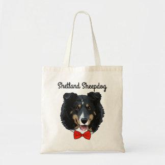 Sacola ilustrada do Sheepdog de Shetland Bolsa Tote