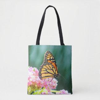 Sacola impressa beleza da borboleta bolsas tote