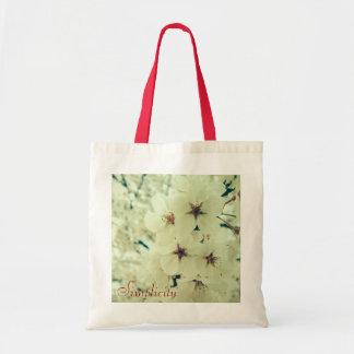 Sacola impressa floral sacola tote budget