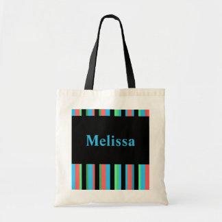 Sacola listrada bonito de Melissa Bolsa Tote
