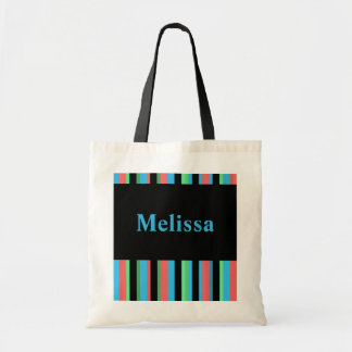 Sacola listrada bonito de Melissa Sacola Tote Budget
