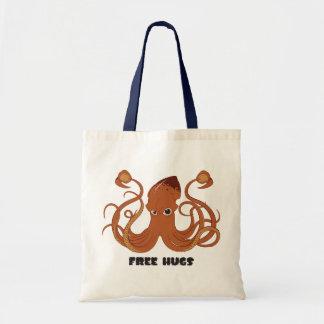 Sacola livre do calamar dos abraços bolsa tote