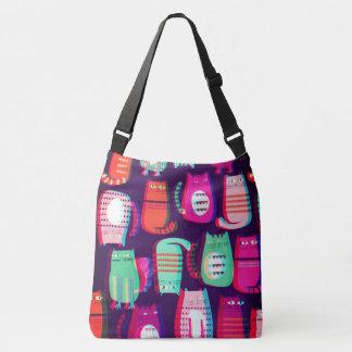 sacola louca do gato do pop 3D Bolsa Ajustável
