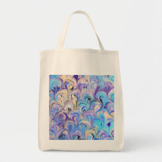 Sacola marmoreada do mantimento bolsas para compras