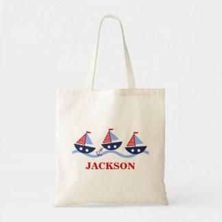 Sacola náutica personalizada dos miúdos bolsas para compras