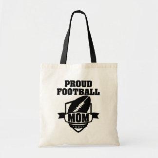Sacola orgulhosa da mamã do futebol bolsa tote