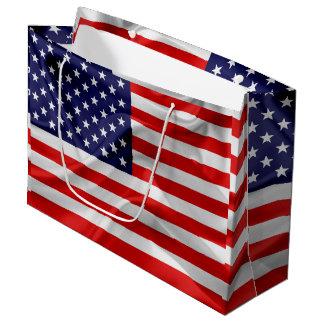 Sacola Para Presentes Grande A bandeira dos Estados Unidos da América