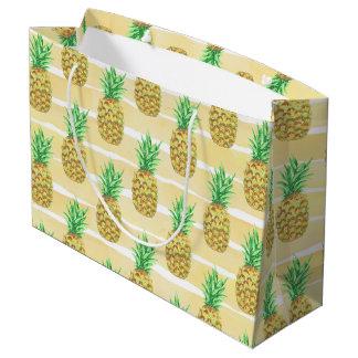 Sacola Para Presentes Grande Abacaxi