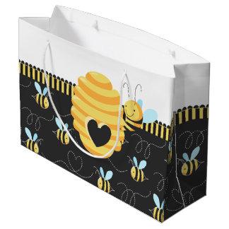 Sacola Para Presentes Grande Abelha bonito do mel que zumbe em torno saco do