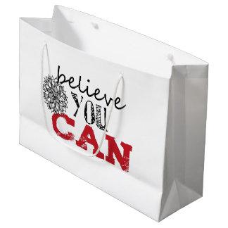 Sacola Para Presentes Grande Acredite que você pode