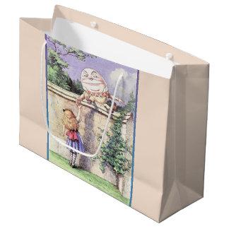 Sacola Para Presentes Grande Alice encontra Humpty Dumpty