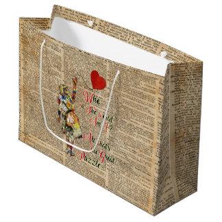 Sacola Para Presentes Grande Alice no saco feito sob encomenda do presente das