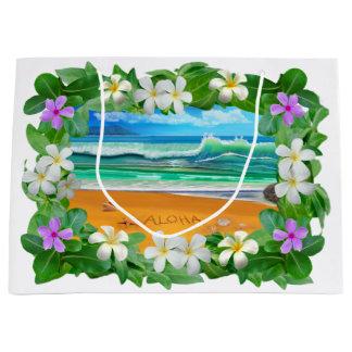 Sacola Para Presentes Grande Aloha de Havaí