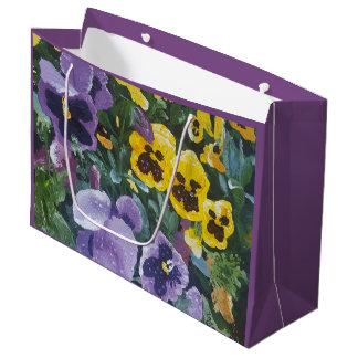 Sacola Para Presentes Grande Amor perfeito floral Giftbag