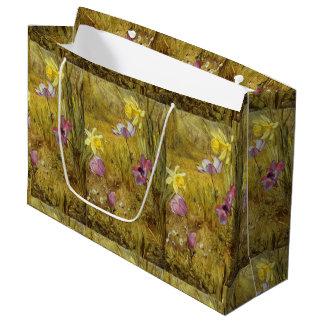 Sacola Para Presentes Grande Anêmonas do vintage e Daffodils Henry Newman