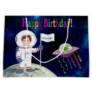 Sacola Para Presentes Grande Aniversário feito sob encomenda do astronauta da